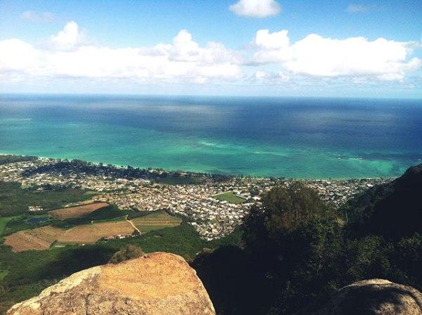 Overlooking Waimanalo.